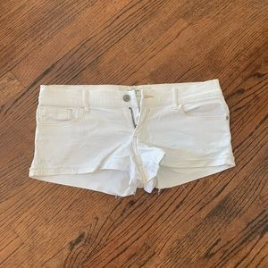 Abercrombie & Fitch white denim shorts